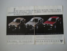 advertising Pubblicità 1987 LANCIA PRISMA INTEGRALE