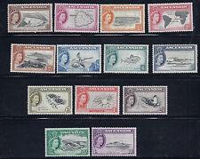 Ascension 1956 Qeii definitives (Sg 57-69 complete) Vf Mlh