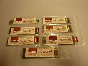 Je 24 Stück Qualitäts- Laubsägeblätter NIQUA Fix-Reverse-in verschiedenen Größen