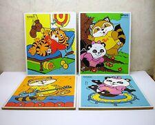 Vintage Playskool Shirt Tales Hallmark 1980/81 Lot 4 Children Wood Jigsaw Puzzle