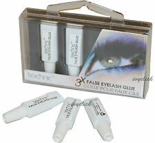 Technic 3 x False Eyelash Glue Adhesive Fake Eyelashes Clear Strong Tubes Box