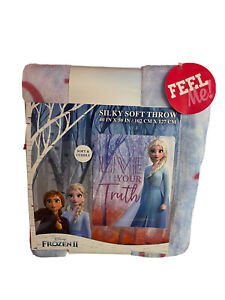 NWT FROZEN 2  Silky Soft Throw Blanket New Soft And Cuddly Elsa