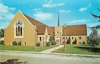 Hobart  Indiana~Augustana Lutheran Church~Kelly & Hickey~1950s Postcard
