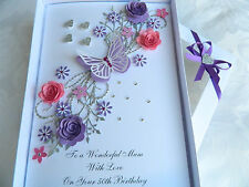 Handmade Personalised Birthday Card Anniversary Any Age, 21, 30 50, 60, Gift Box