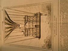 Caricature 1880 - Aerostation Balloon Nasdaq of R.P. Jesuits