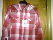 LADIES WESTERN SHIRT BY WRANGLER NEW WITH TAG SIZE XX-LARGE LONG SLEEVES SNAPS