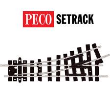 Peco ST-406 9 Inch Radius Left Hand Turnout Code 80 OO-9 Gauge