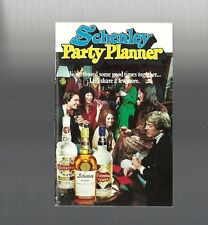 Vintage collectible 1975 Schenley Party Planner cocktail recipe booklet