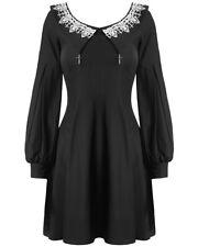 Dark In Love Gothic Mini Dress Black White Lace Witch Occult Victorian Sabrina