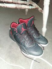 Black, white and red Used jordan basketball shoes size 13