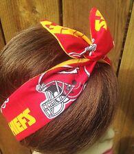 Kansas City Chiefs Headband Scarf Helmet Wired Dolly Bow   Headband Bandanna