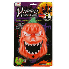 Animated Light Up Talking Pumpkin Door Bell Halloween Spooky Decoration Prop