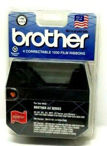 Brother 4 Pack Correctable 1030 Film Ribbons Black AX Series Typewriters NIP (K4