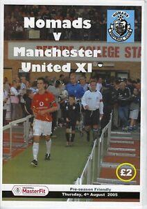 Connah's Quay Nomads v Manchester United 04-08-2005 Pre-season Friendly