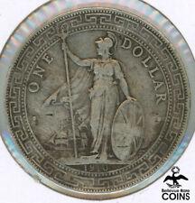 1910 Great Britain Trade 1 Dollar Britannia Silver .900 Coin KM#T5