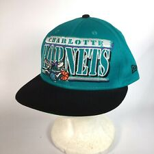 Charlotte Hornets Snapback 9Fifty New Era NBA Basketball Hat - Teal Embroidered