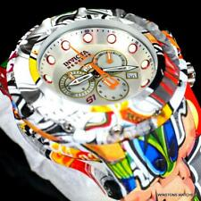 Invicta S1 Rally Graffiti Hydroplated Steel Swiss Mvt Chronograph Watch 54mm New