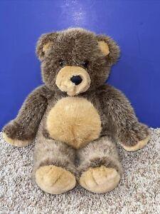 """1993 Dakin Vintage Teddy Bear 14"""" Brown Stuffed Plush  Cuddly Soft"""