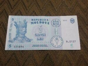 5 lei  2015  Moldova