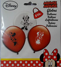 PALLONCINI MINNIE ORIGINAL DISNEY 8 Pz 30 cm FESTA PARTY Top Quality