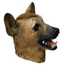 Deluxe Hyena Mask Wild Dog Animal Full Overhead Latex Fancy Dress Halloween Wolf