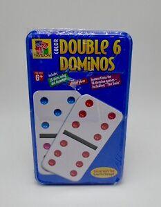 Pavilion Couleur Double 6 Dominos en Étain Famille Jeu Scellé Boîte
