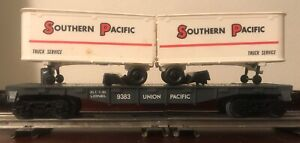 Lionel #9333, Southern Pacific Piggyback with Trailers, ca. 1980