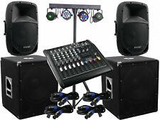 Il Completo Set-6 Omnitronic Vivere Power Mixer Impianto Luce LED Stereo Dj