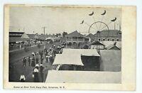 Ferris Wheel Racetrack Racing New York State Fair SYRACUSE NY Vintage Postcard