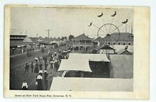 Ferris Wheel Racetrack Racing New York State Fair SYRACUSE NY Vintage Postcard