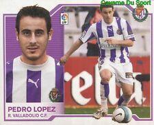 PEDRO LOPEZ ESPANA REAL VALLADOLID STICKER LIGA ESTE 2008 PANINI