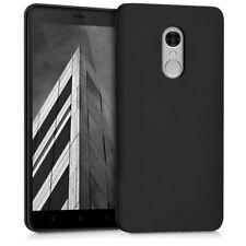 TPU Schutz Hülle für Xiaomi Redmi Note 4 4X Schwarz matt Case Silikon Cover