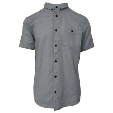 Quik Silver Men's Soft Pastel Blue Waterfall S/S Woven Shirt (Retail $55)