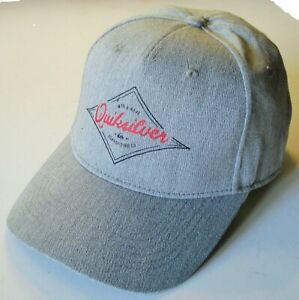 QUIKSILVER DIAMOND WAVE DECADES SNAPBACK MENS CAP GREY  EQYHA03252 SGRH
