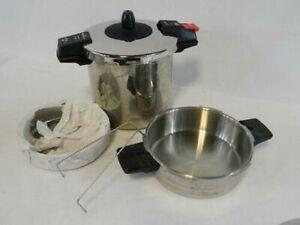 Magefesa Rapid II Super-Fast Pressure Cooker 5-Piece Stainless Steel w/Steamer