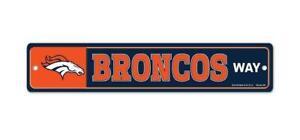 Denver Broncos License Distanza Way Scudo 48 CM NFL Calcio, Nuovo