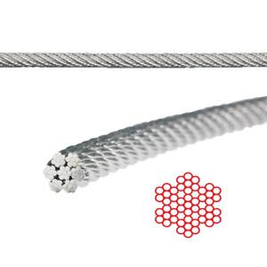 1,0 mm Drahtseil A4 Edelstahl 7X7 mittelweich Stahldraht Rankhilfe Seilwerk V4A