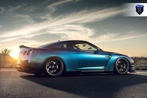 20x10 20x12 +22 Rohana RFX5 5x114.3 BLACK RIM Fit Nissan GTR R35 2013 STAGGERED