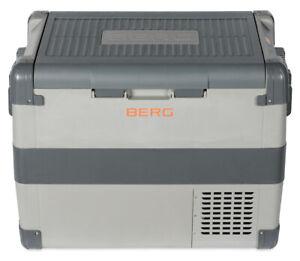 BERG Large 60L Portable Electric Compressor Fridge Freezer Cool Box - Camping