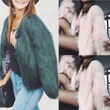 Winter Coat Womens Warm Faux Fur Fox Coat Jacket Ladies Parka Outerwear Tops TY