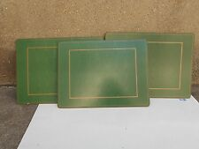 Pimpernel Classic Jade - Moire Green Placemats, Set of 3 (9408 0010640461)