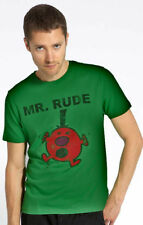 Men's Green Mr. Men Mr. Rude Casual Short Sleeve Polycotton T-Shirt XL MO14077