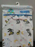 NEW BABY LOONEY TUNES BUGS BUNNY SLEEP /'N PLAY WITH BIB INFANT BOY 0-3 M OR 3-6M
