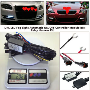 Car Led Daytime Running Light Relay Harness DRL Control ON OFF Automatic Dimmer