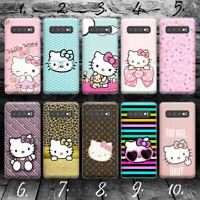 HELLO KITTY A SILLY CAT CARTOON Samsung S7 S8 S9 S10 S10E Edge + plus case cover