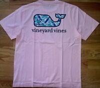 Vineyard Vines Men's Graphic T-Shirt Surf's Up Whale Fill Flamingo L NEW