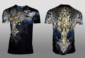 XTREME COUTURE by AFFLICTION Men's T-Shirt ENSIGN Biker Black MMA S-5X