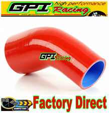 """Silicone 45 Degree Reducer Elbow Joiner Hose pipe 64-70mm 2.5""""-2.75"""" red"""
