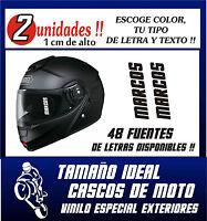 PEGATINAS PERSONALIZABLES (X2) - CASCO DE MOTO -Tu Nombre (o texto) - CALIDAD