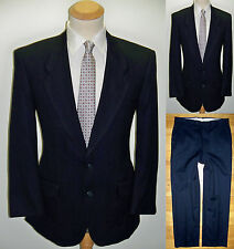 40S Mens 2 piece ANDRE VACHON Luxury Business Blue MOD Wool Pinstripe Suit